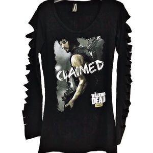 The Walking Dead Large long sleeve top Daryl Dixon